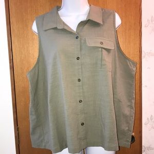 NWT Olive green vest